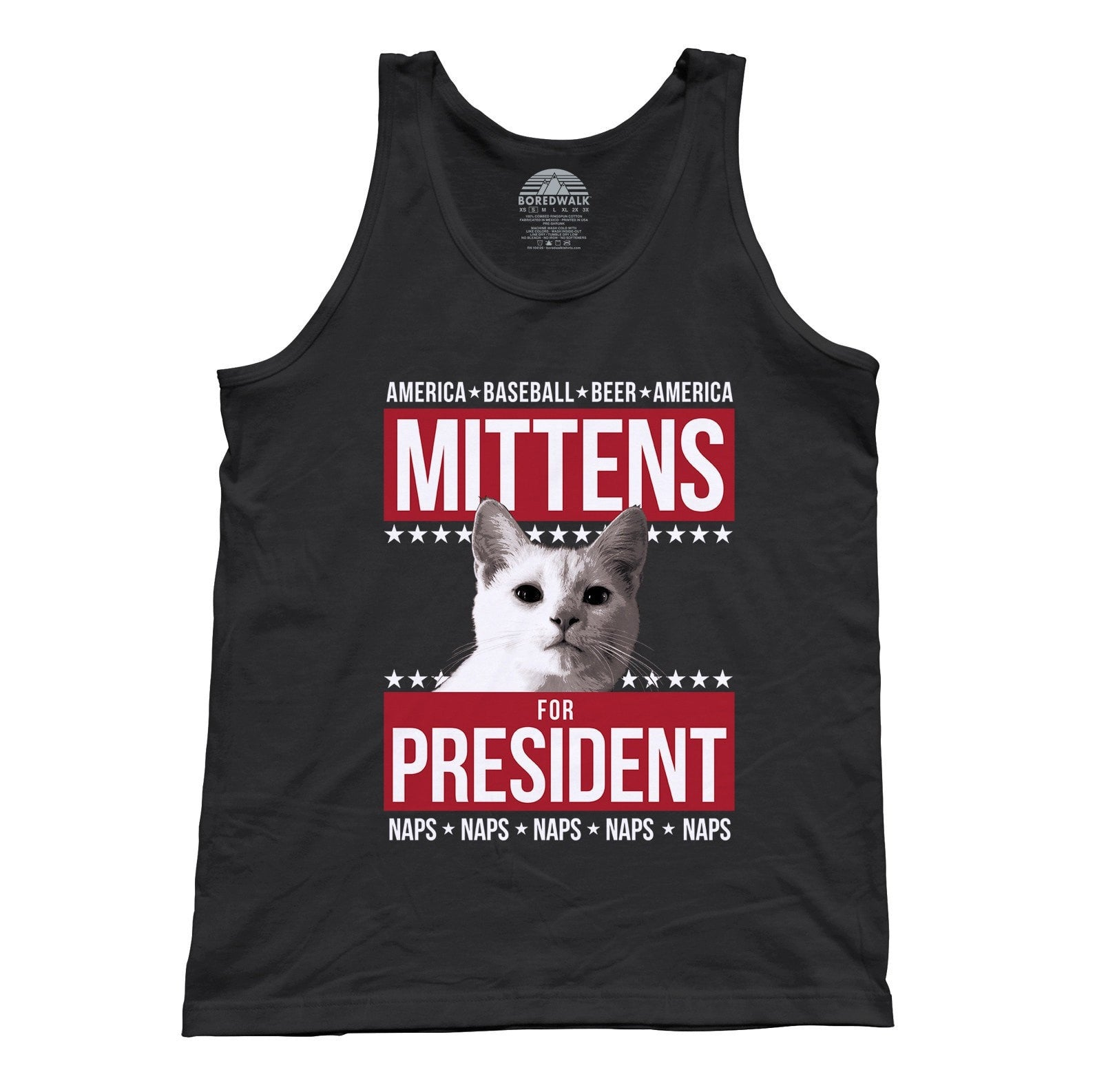 Unisex Mittens for President Tank Top Election Political Funny Cat