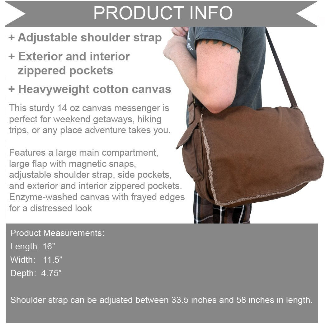 Carpe Librum Messenger Bag