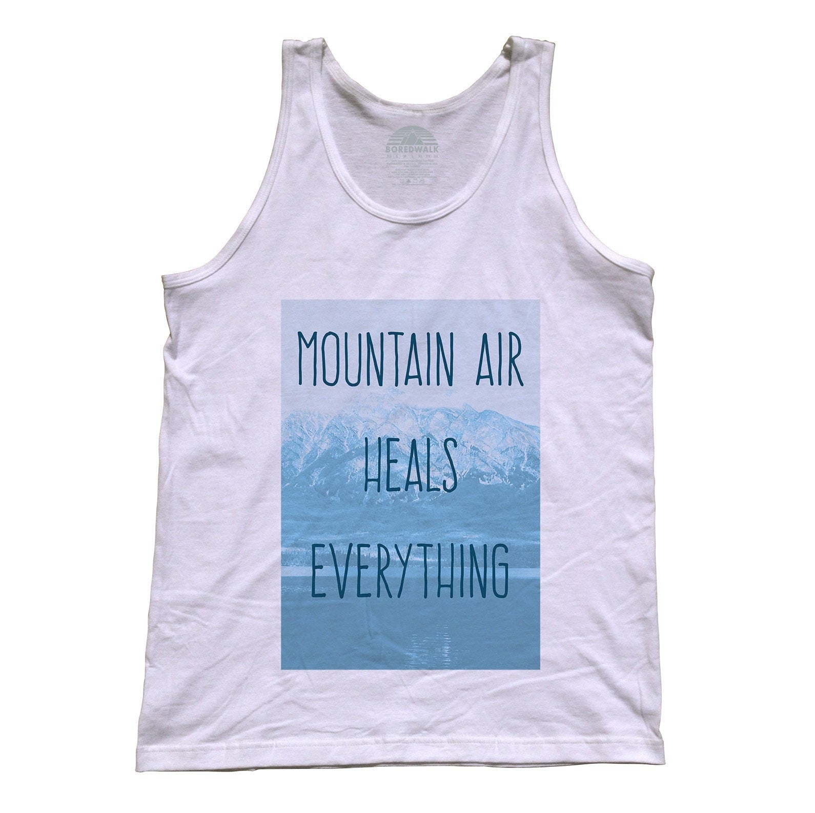 Unisex Mountain Air Heals Everything Tank Top Camping Hiking