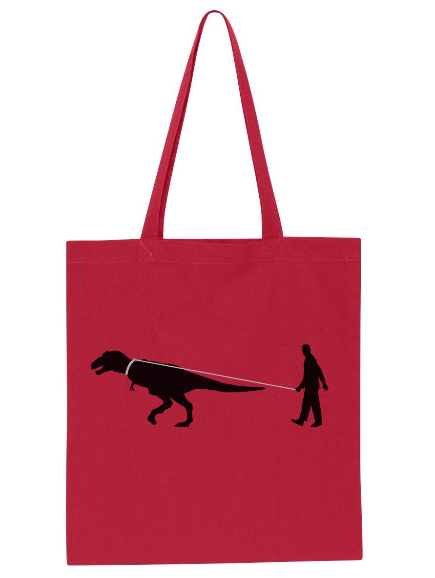 Man Walking Dinosaur Tote Bag - By Ex-Boyfriend