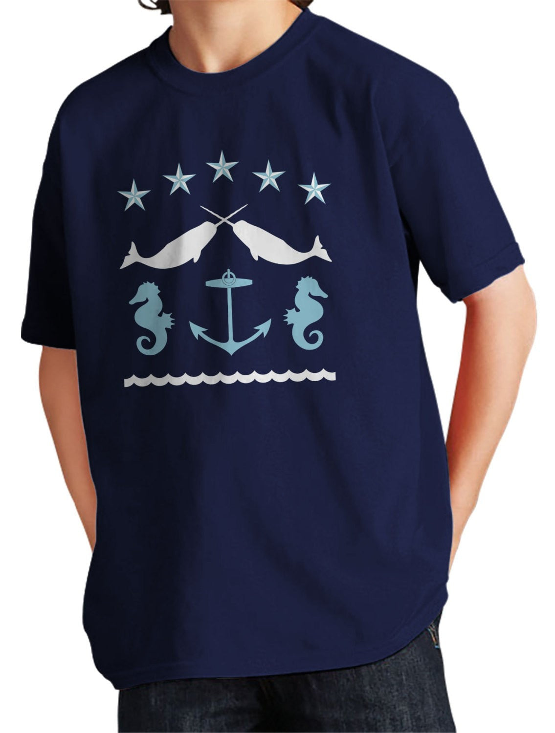 Girl's Narwahl T-Shirt - Unisex Fit Nautical Folk