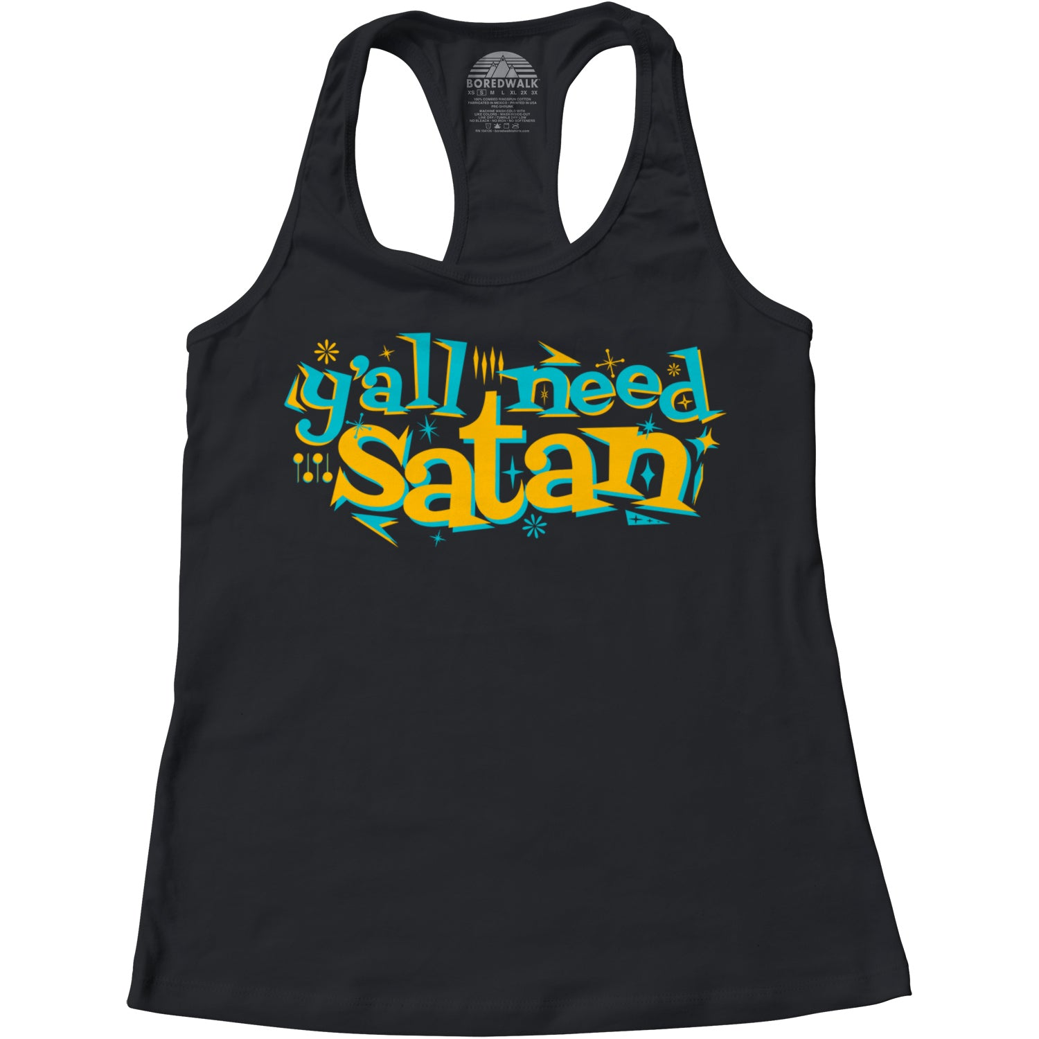 Women's Y'all Need Satan Racerback Tank Top
