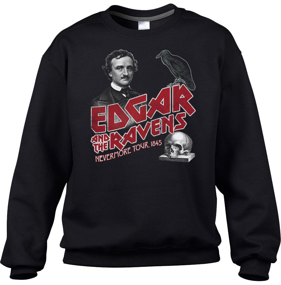 Unisex Edgar and the Ravens Nevermore Tour Sweatshirt - Edgar Allan Poe