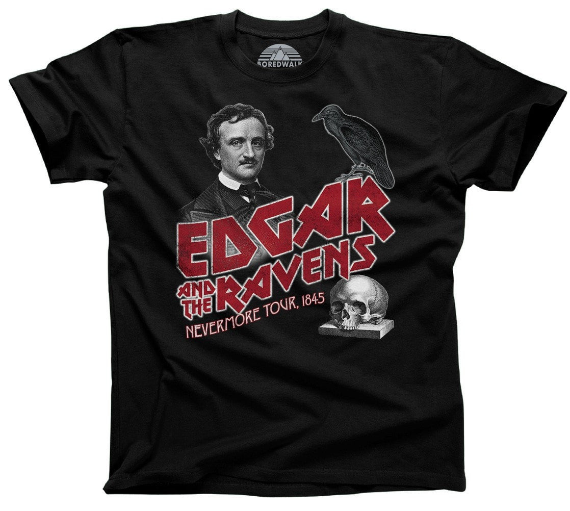Men's Edgar and the Ravens Nevermore Tour T-Shirt Edgar Allan Poe