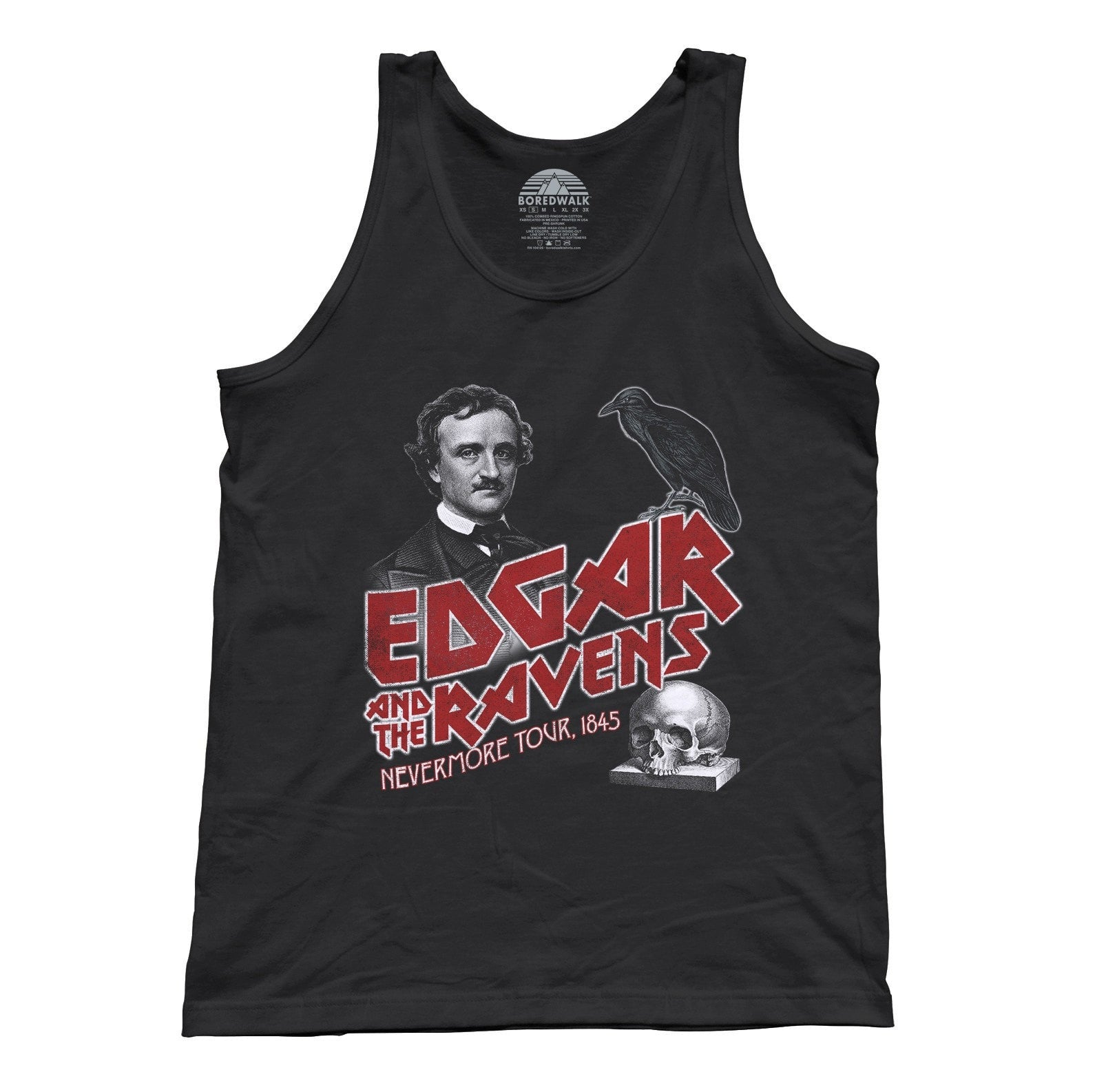 Unisex Edgar and the Ravens Nevermore Tour Tank Top Edgar Allan Poe