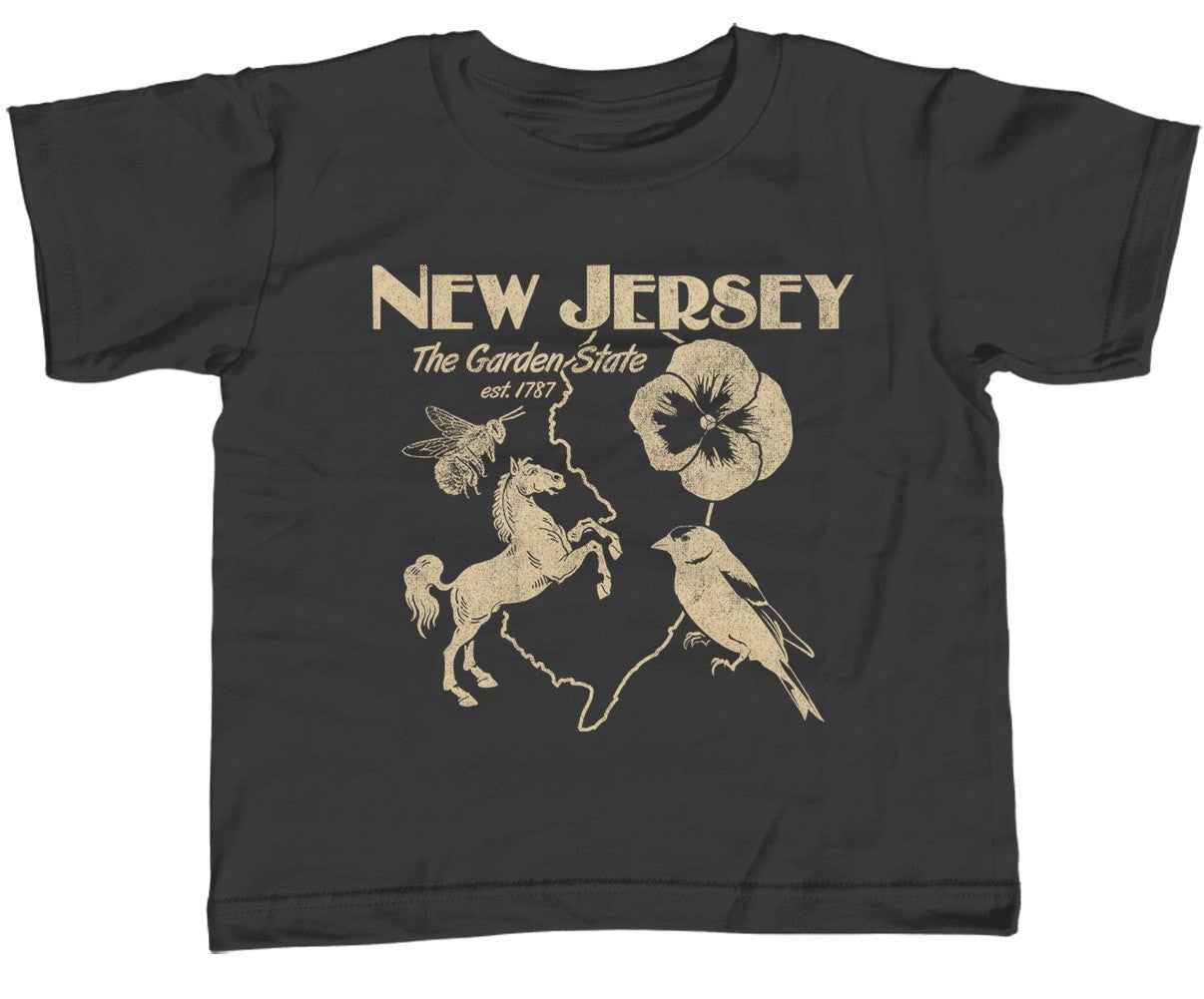 Boy's New Jersey T-Shirt Retro Garden State