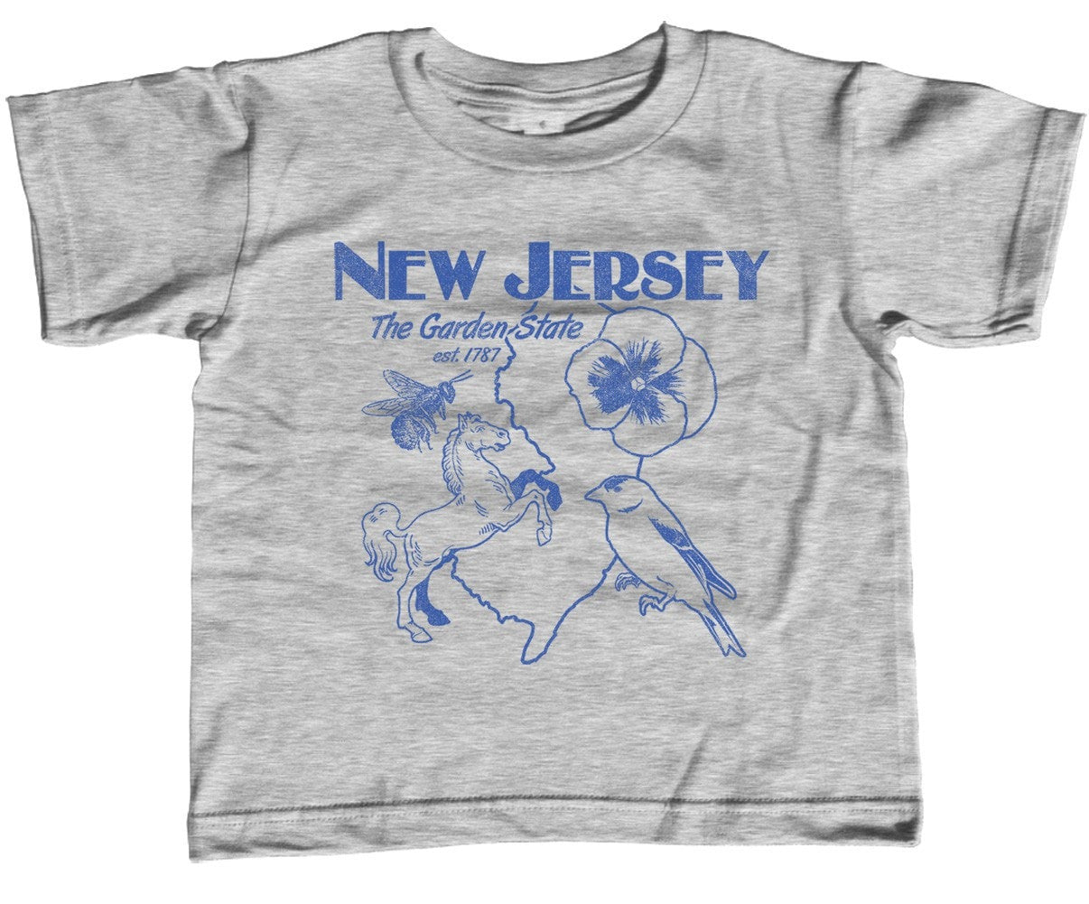 Girl's New Jersey T-Shirt - Unisex Fit Retro Garden State