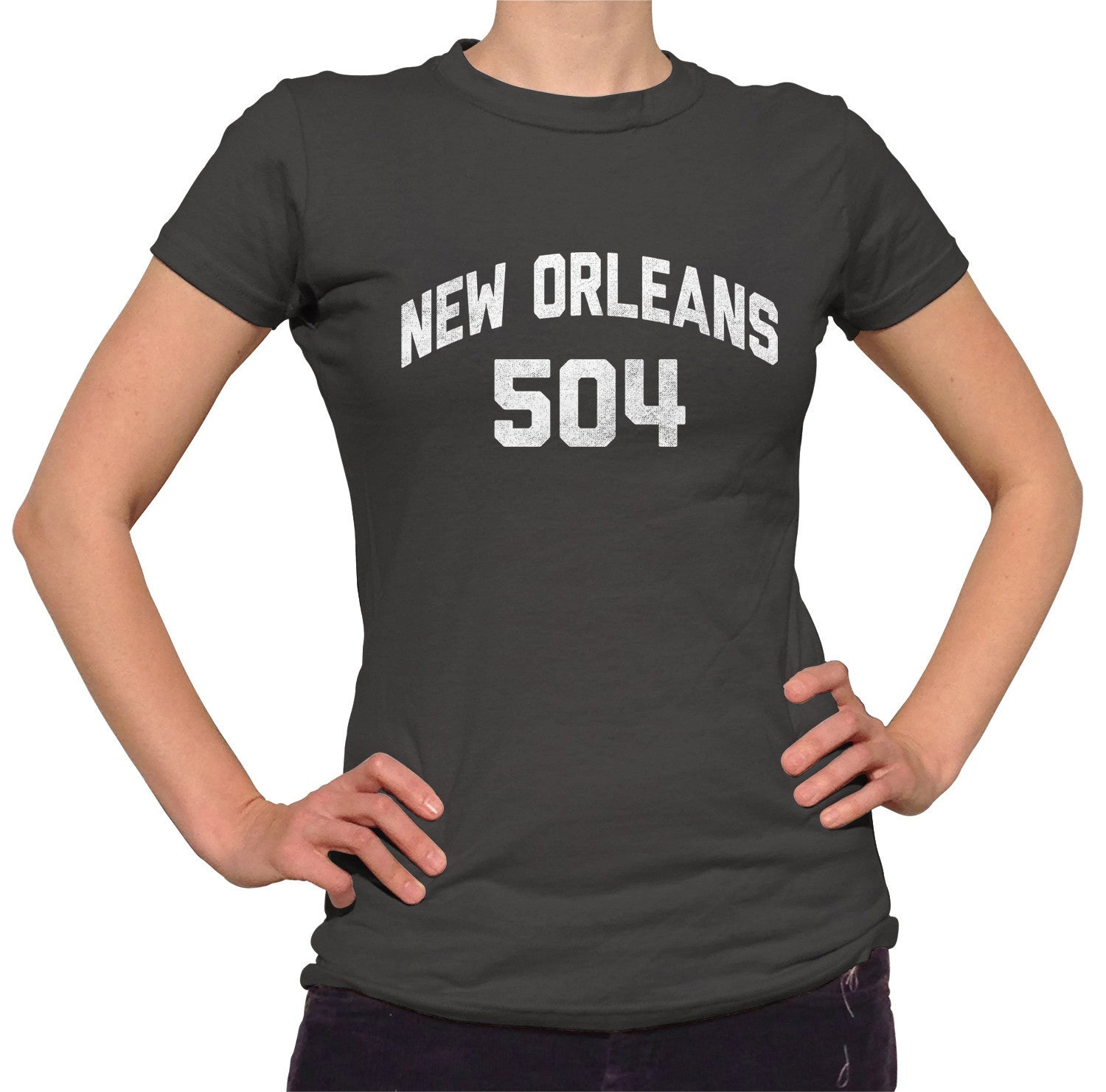 Women's New Orleans 504 Area Code T-Shirt