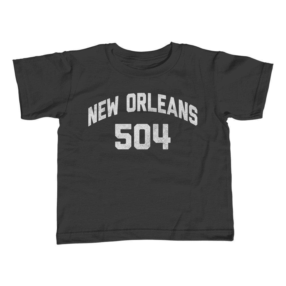 Boy's New Orleans 504 Area Code T-Shirt