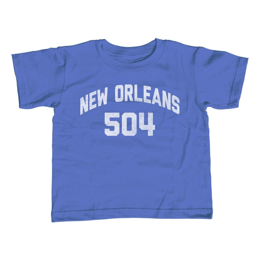 Girl's New Orleans 504 Area Code T-Shirt - Unisex Fit