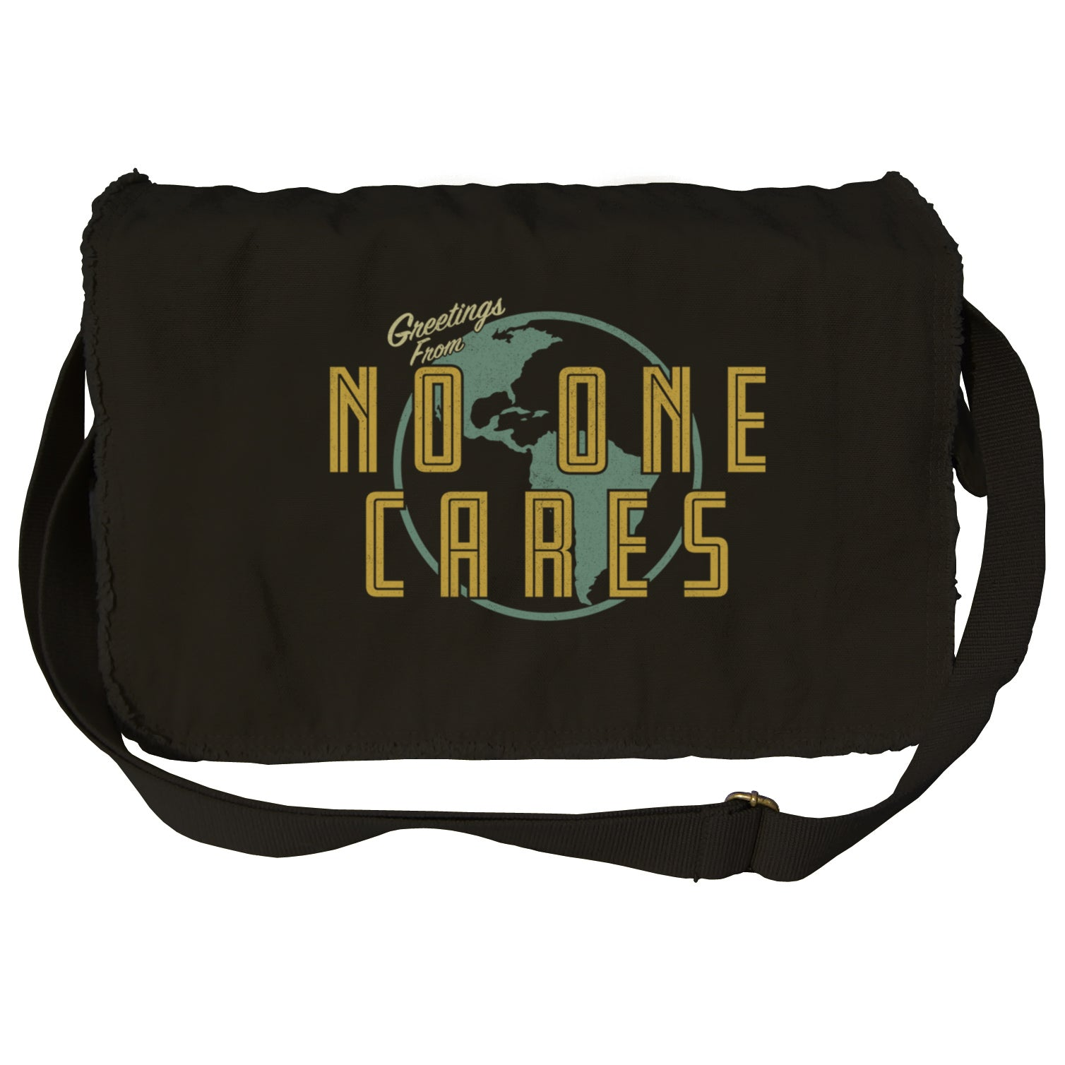 Greetings From No One Cares Messenger Bag
