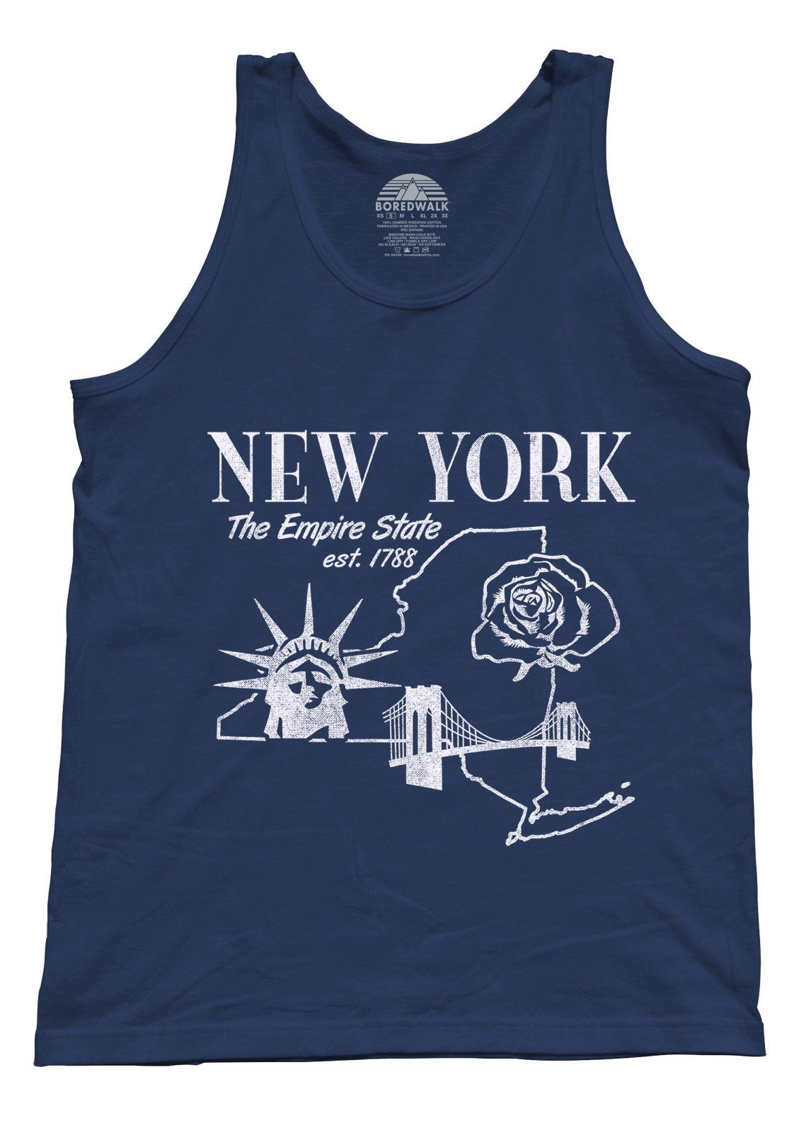 Unisex Retro New York Tank Top Vintage State Pride