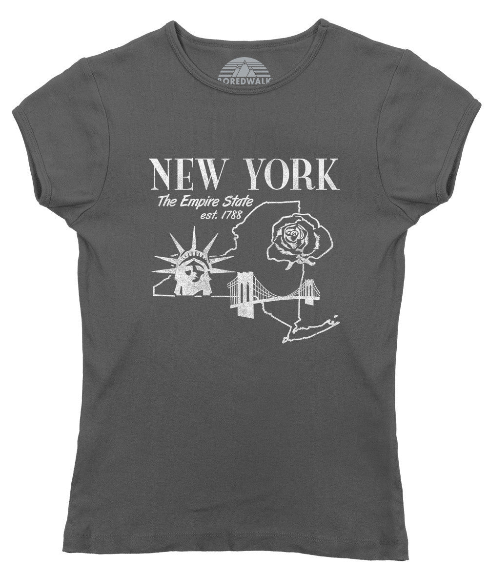 Women's Retro New York T-Shirt Vintage State Pride