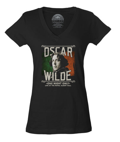 Women's Oscar Wilde Live Tour Vneck T-Shirt - Juniors Fit
