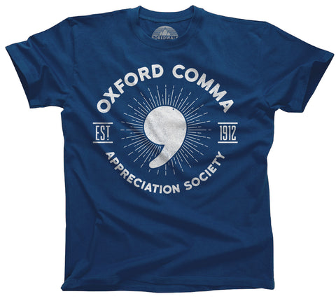 Men's Oxford Comma Appreciation Society T-Shirt