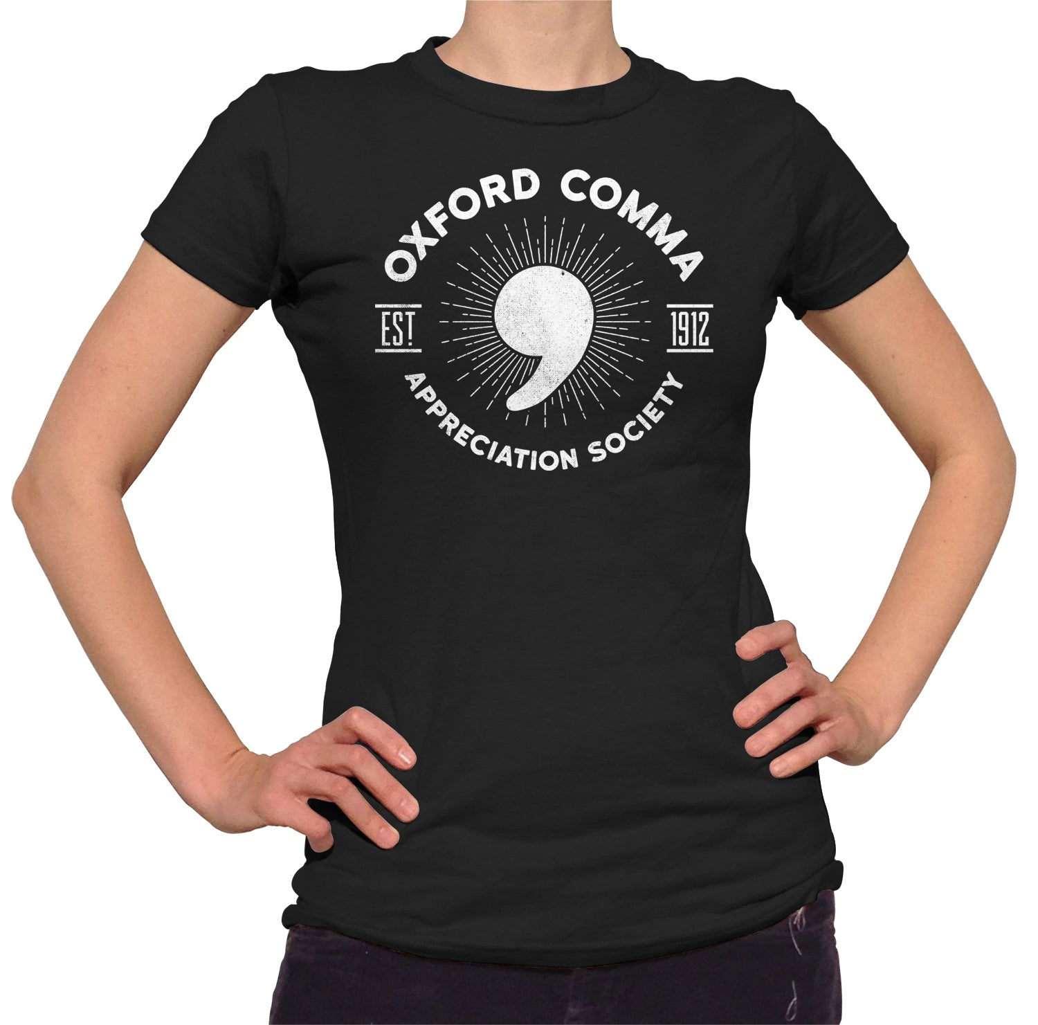 Women's Oxford Comma Appreciation Society T-Shirt
