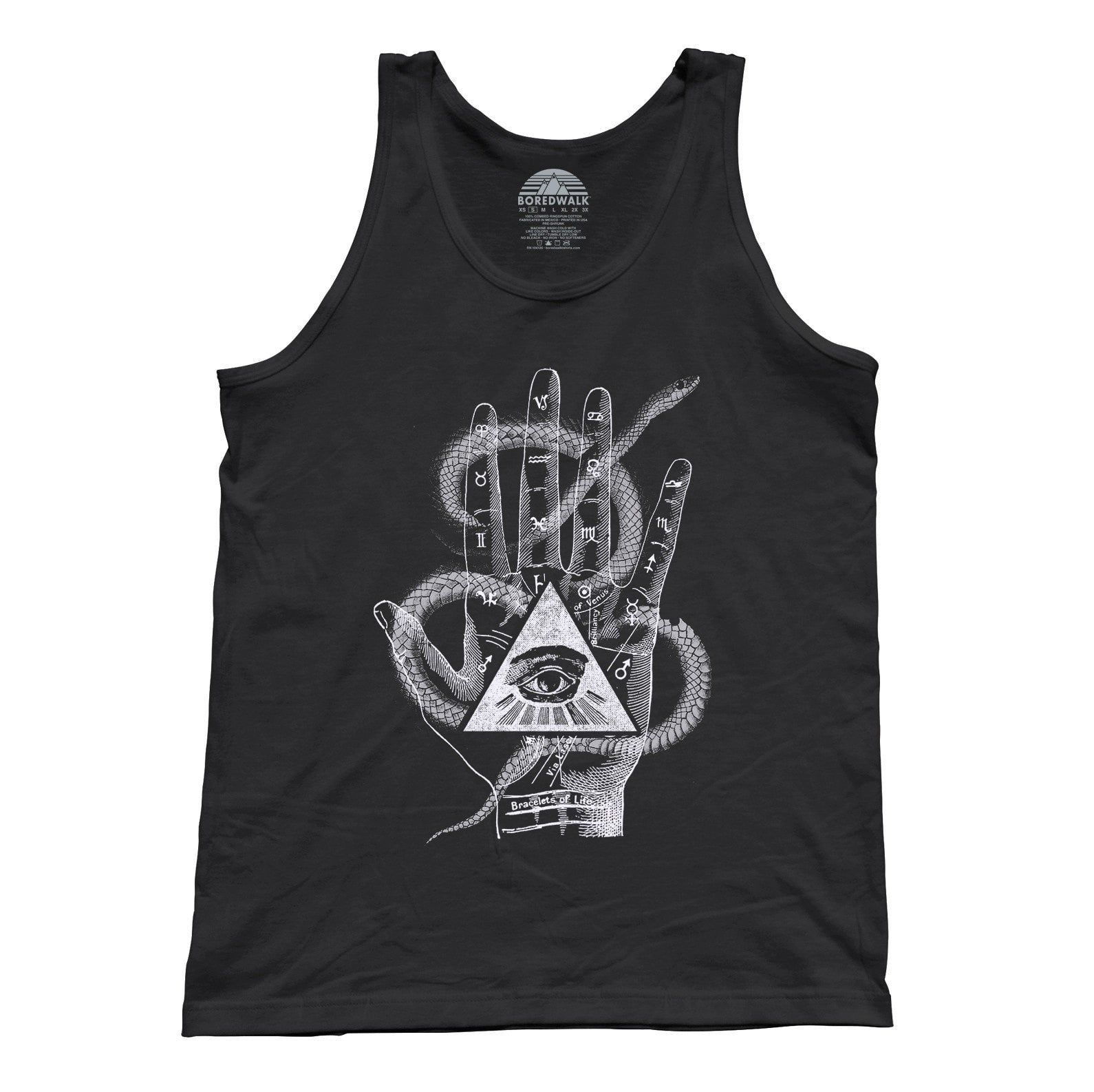 Unisex Palmistry Gypsy Collage Tank Top