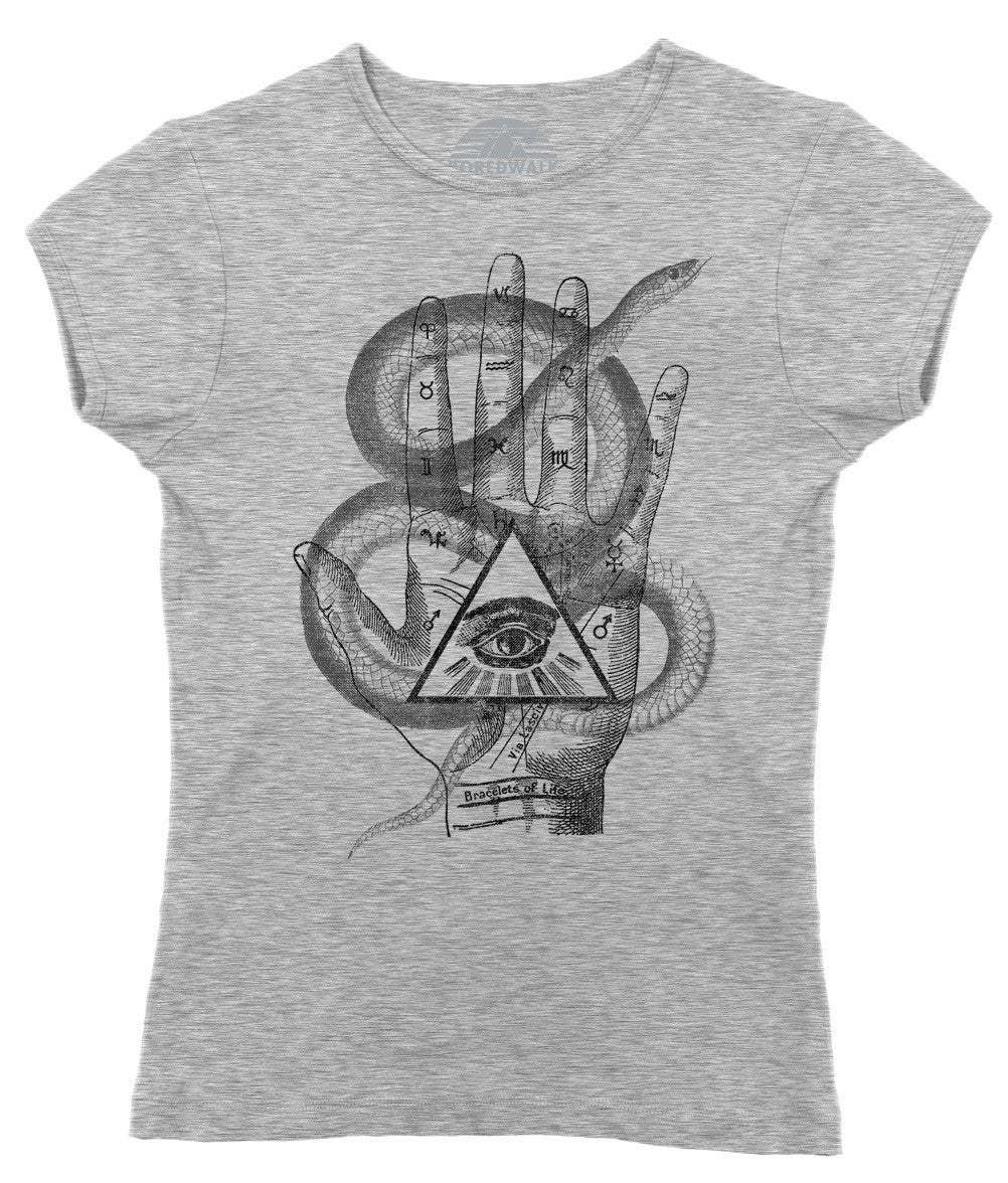Women's Palmistry Gypsy Collage T-Shirt