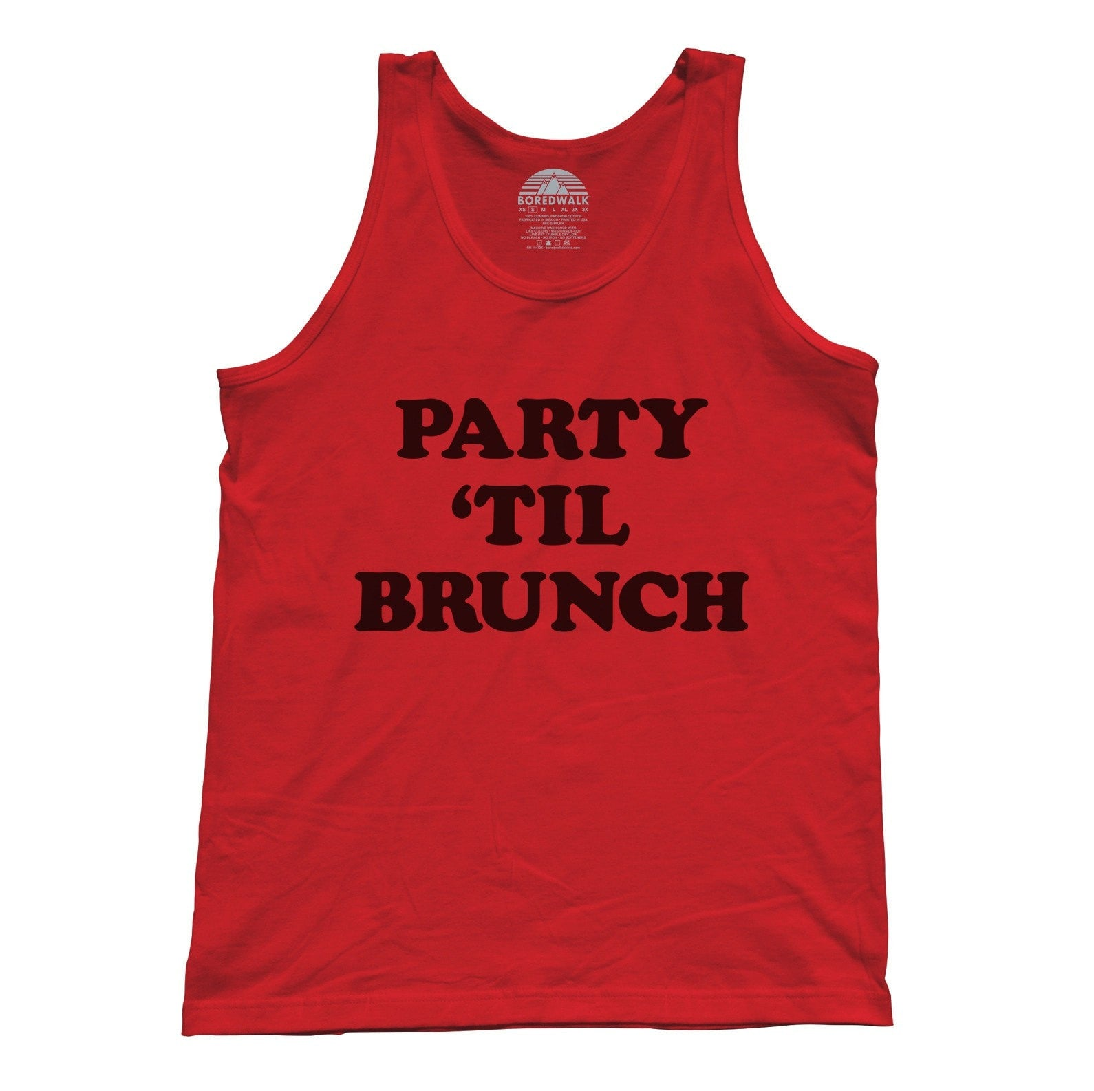 Unisex Party Til Brunch Tank Top Late Night Party