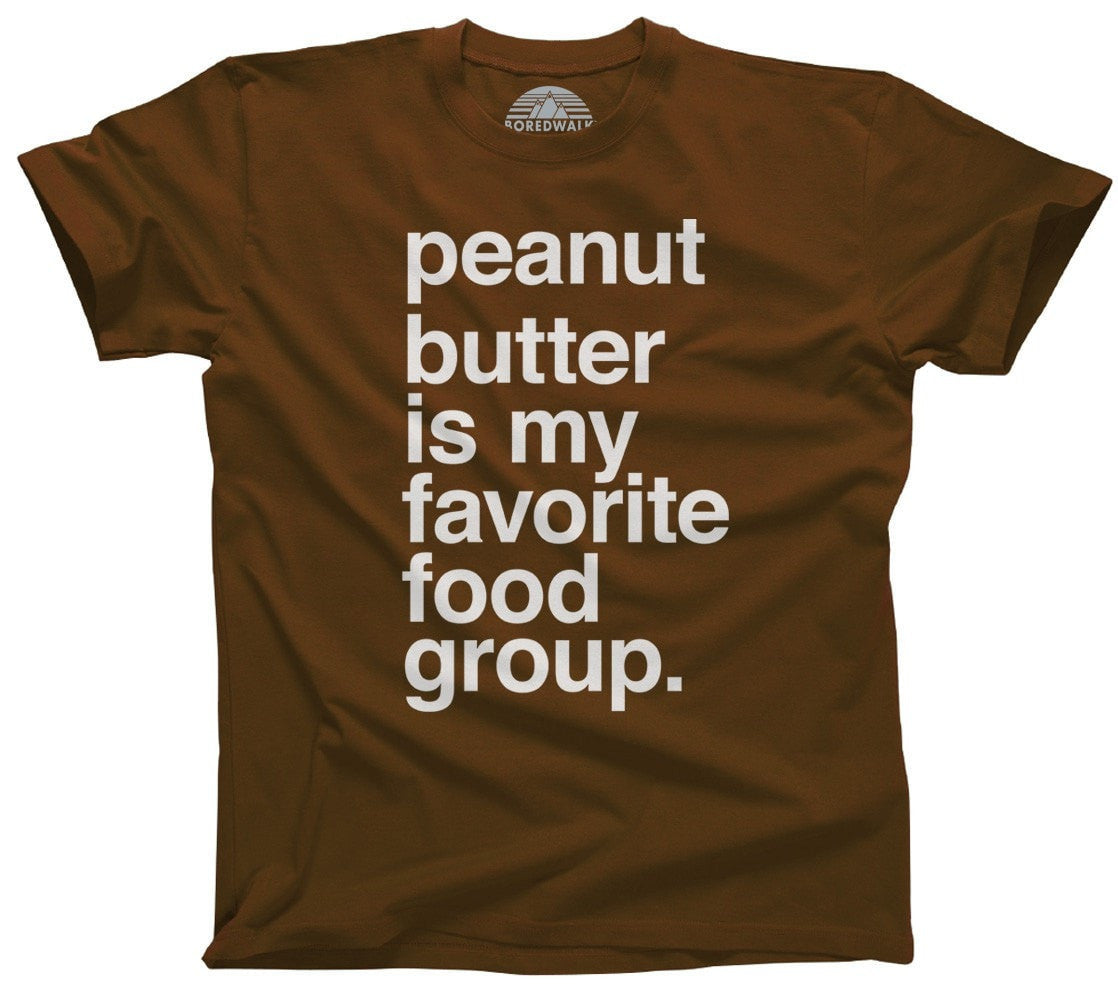 Men's Peanut Butter is My Favorite Food Group T-Shirt