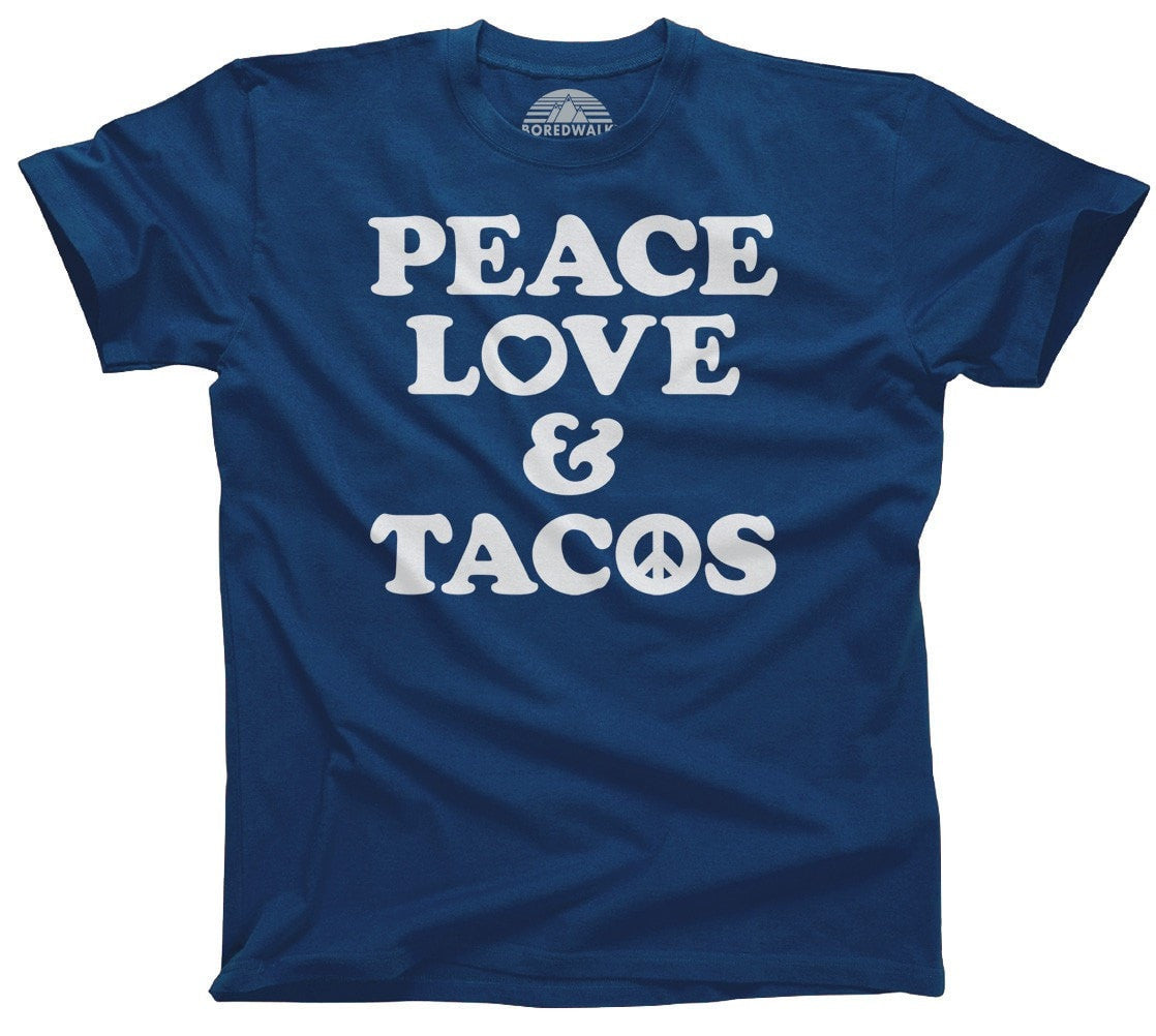 Men's Peace Love and Tacos T-Shirt