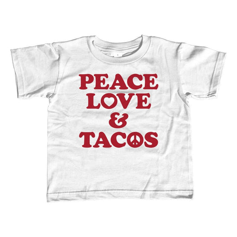 Girl's Peace Love and Tacos T-Shirt - Unisex Fit