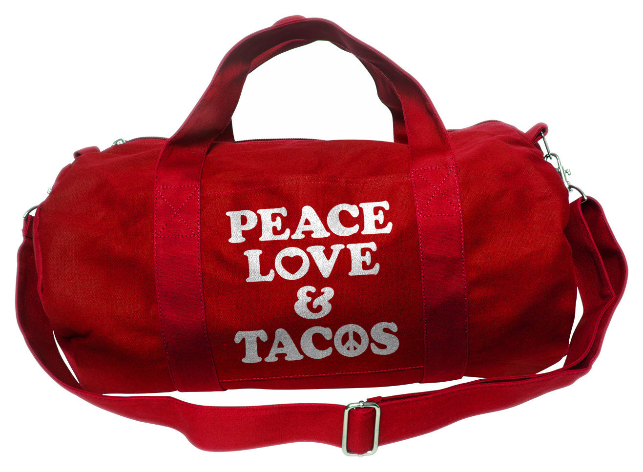 Peace Love and Tacos Duffel Bag