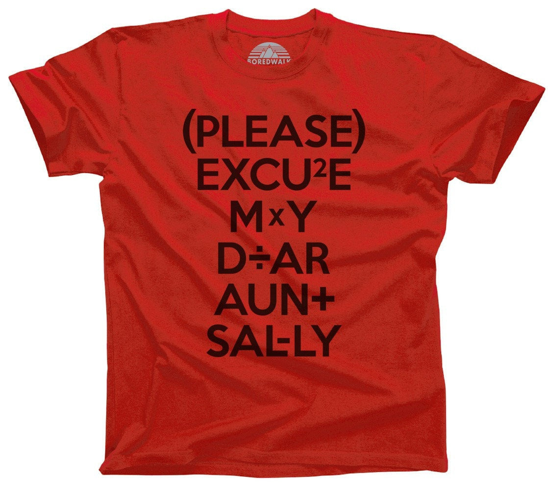 Men's Please Excuse My Dear Aunt Sally T-Shirt