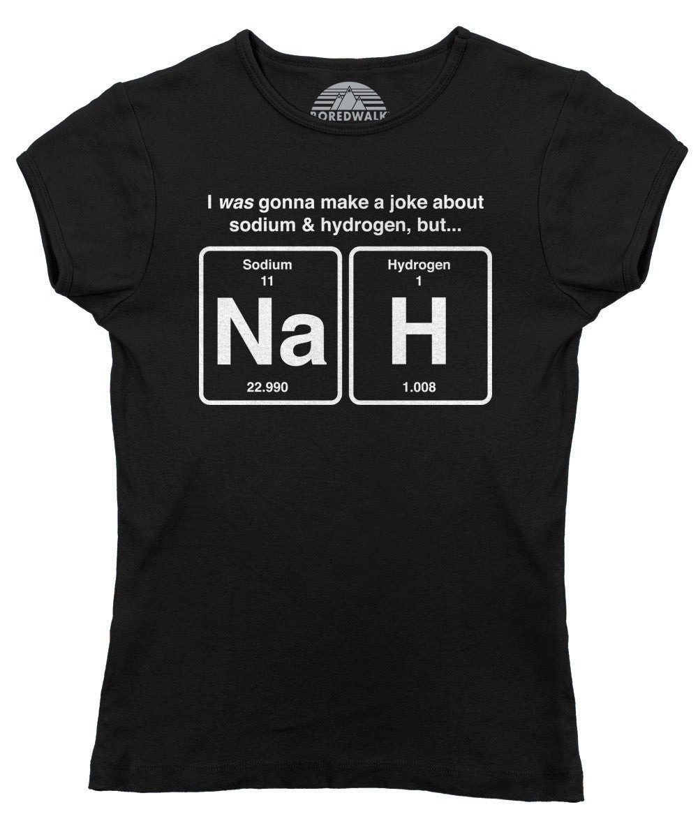 Women's I Was Going To Make A Joke About Sodium And Hydrogen But Nah T-Shirt