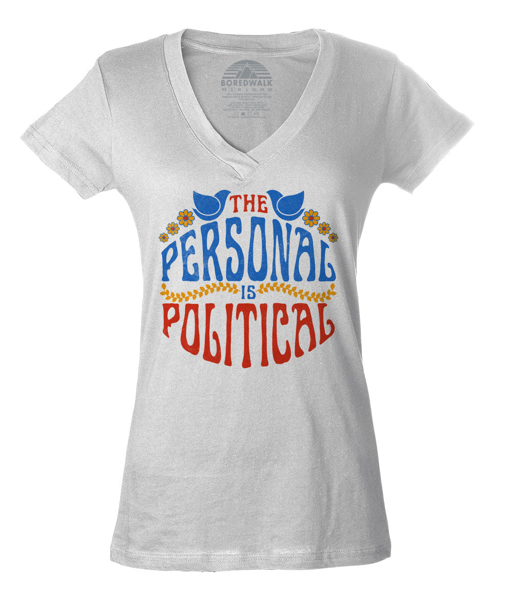 Women's The Personal is Political Vneck T-Shirt