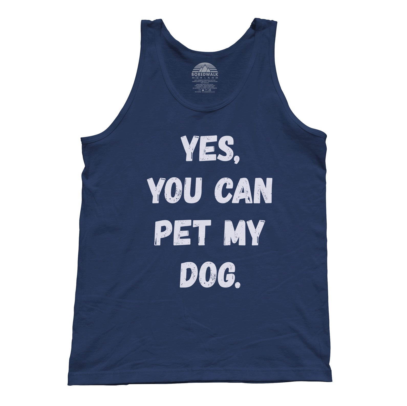 Unisex Yes You Can Pet My Dog Tank Top - Funny Dog Owner Shirt