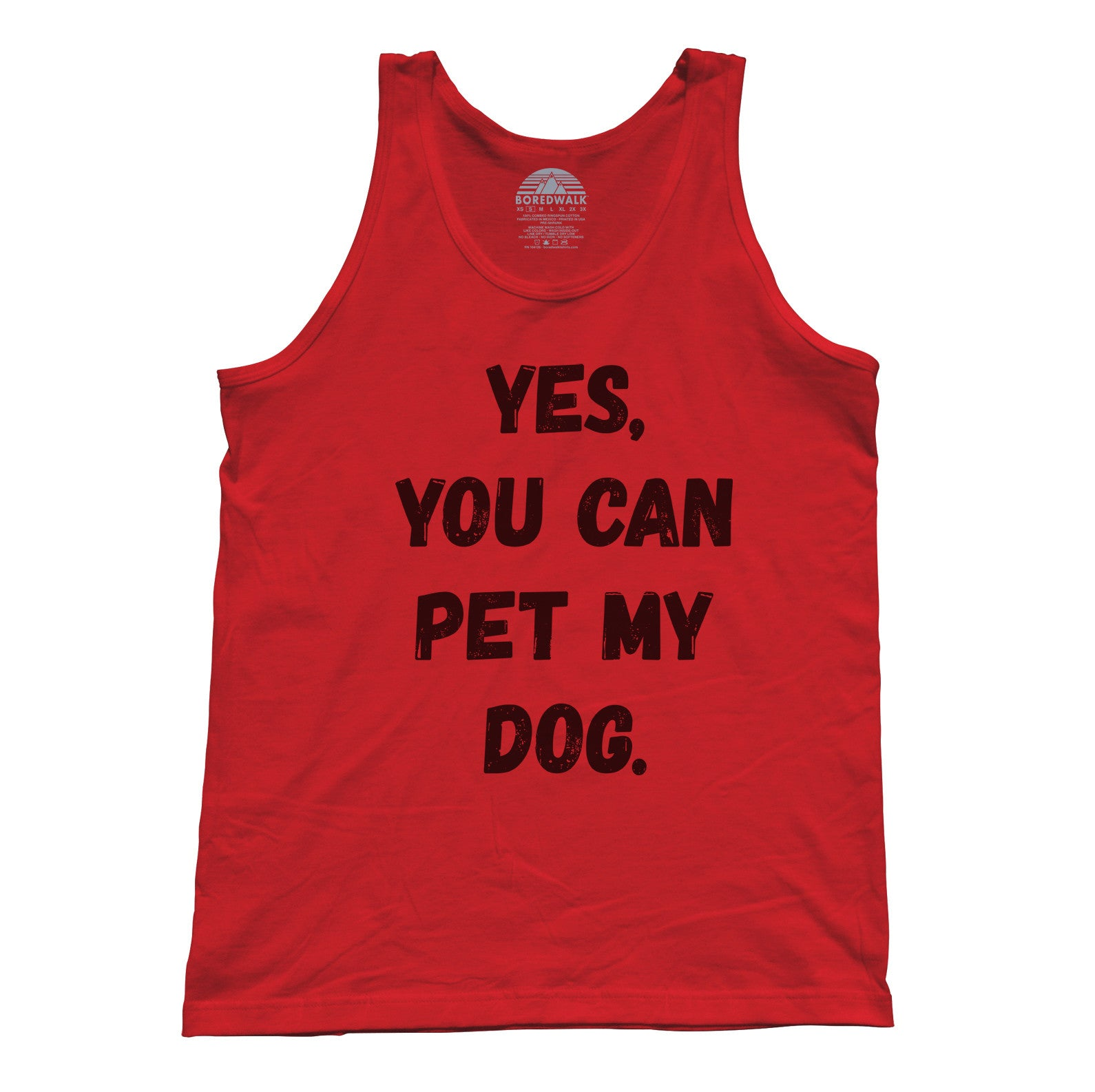 26c4b39b37 Unisex Yes You Can Pet My Dog Tank Top - Funny Dog Owner Shirt ...