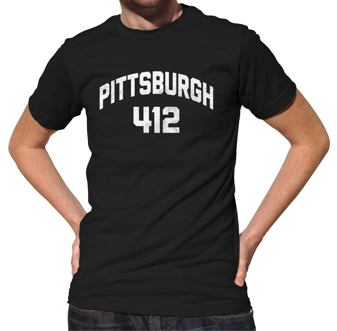 Men's Pittsburgh 412 Area Code T-Shirt