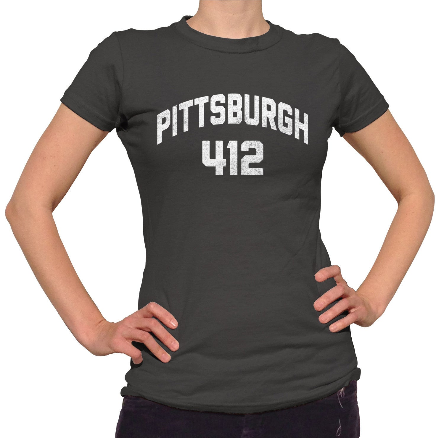 Women's Pittsburgh 412 Area Code T-Shirt