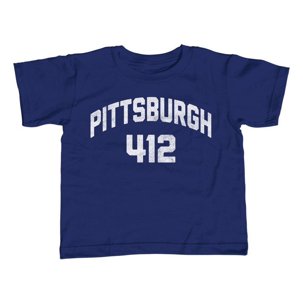 Boy's Pittsburgh 412 Area Code T-Shirt