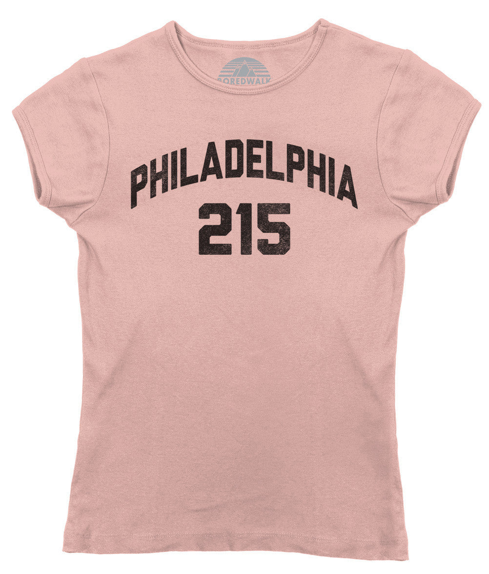 Women's Philadelphia 215 Area Code T-Shirt