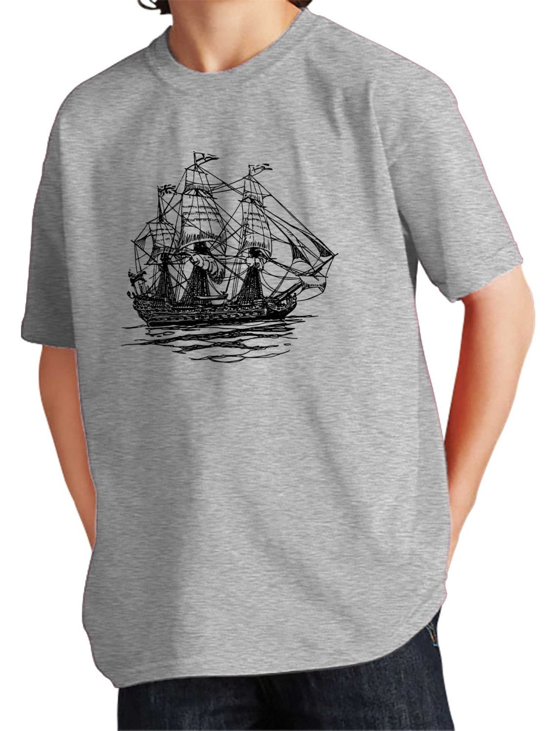 Girl's Pirate Ship T-Shirt - Unisex Fit Nautical
