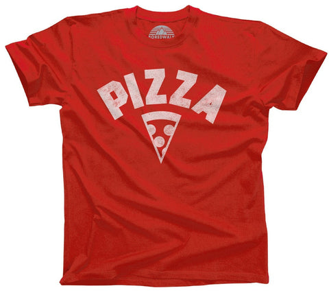 Men's Team Pizza T-Shirt Vintage Retro Athletic Logo Inspired