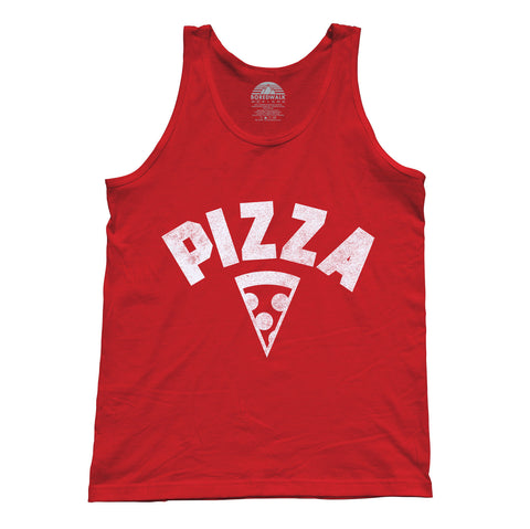 Unisex Team Pizza Tank Top Vintage Retro Athletic Logo Inspired