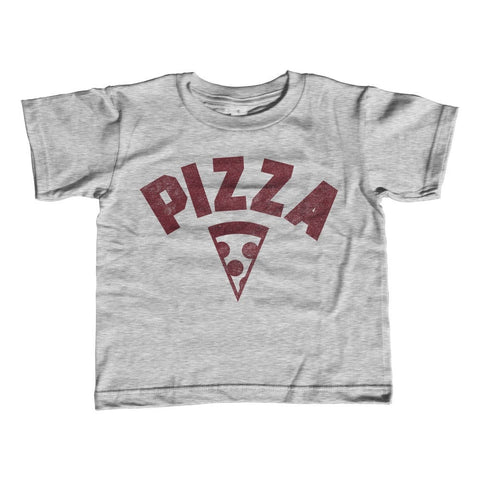 Boy's Team Pizza T-Shirt Vintage Retro Athletic Logo Inspired