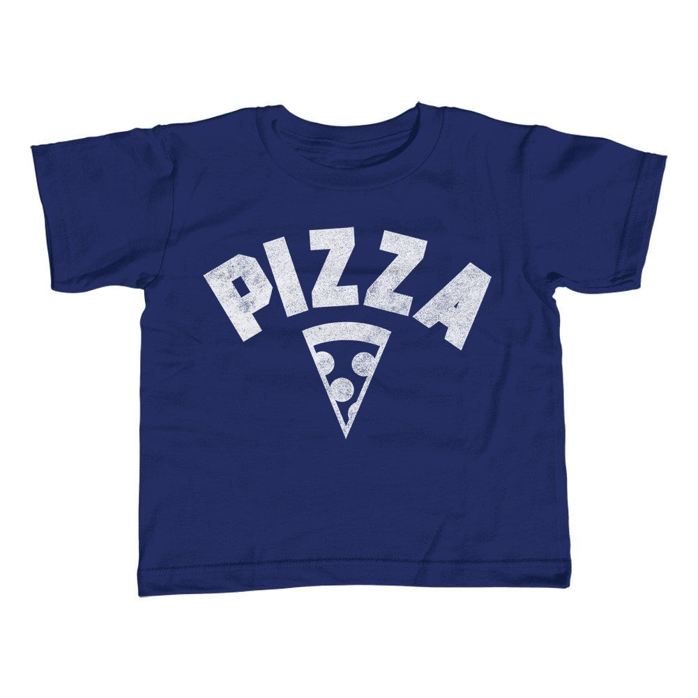 Girl's Team Pizza T-Shirt - Unisex Fit Vintage Retro Athletic Logo Inspired