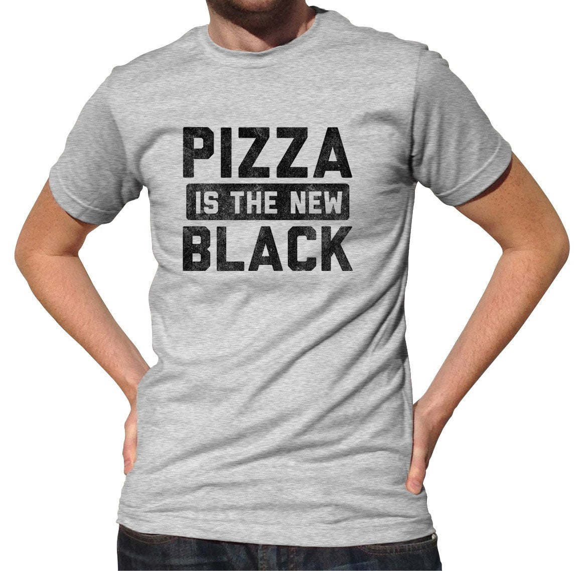 Men's Pizza is the New Black T-Shirt Foodie Shirt - Food Snob