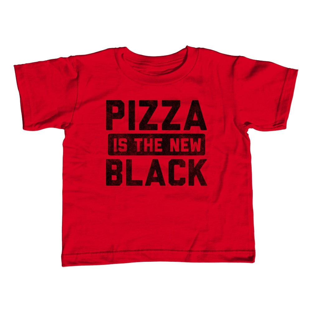 Girl's Pizza is the New Black T-Shirt - Unisex Fit Hipster Foodie
