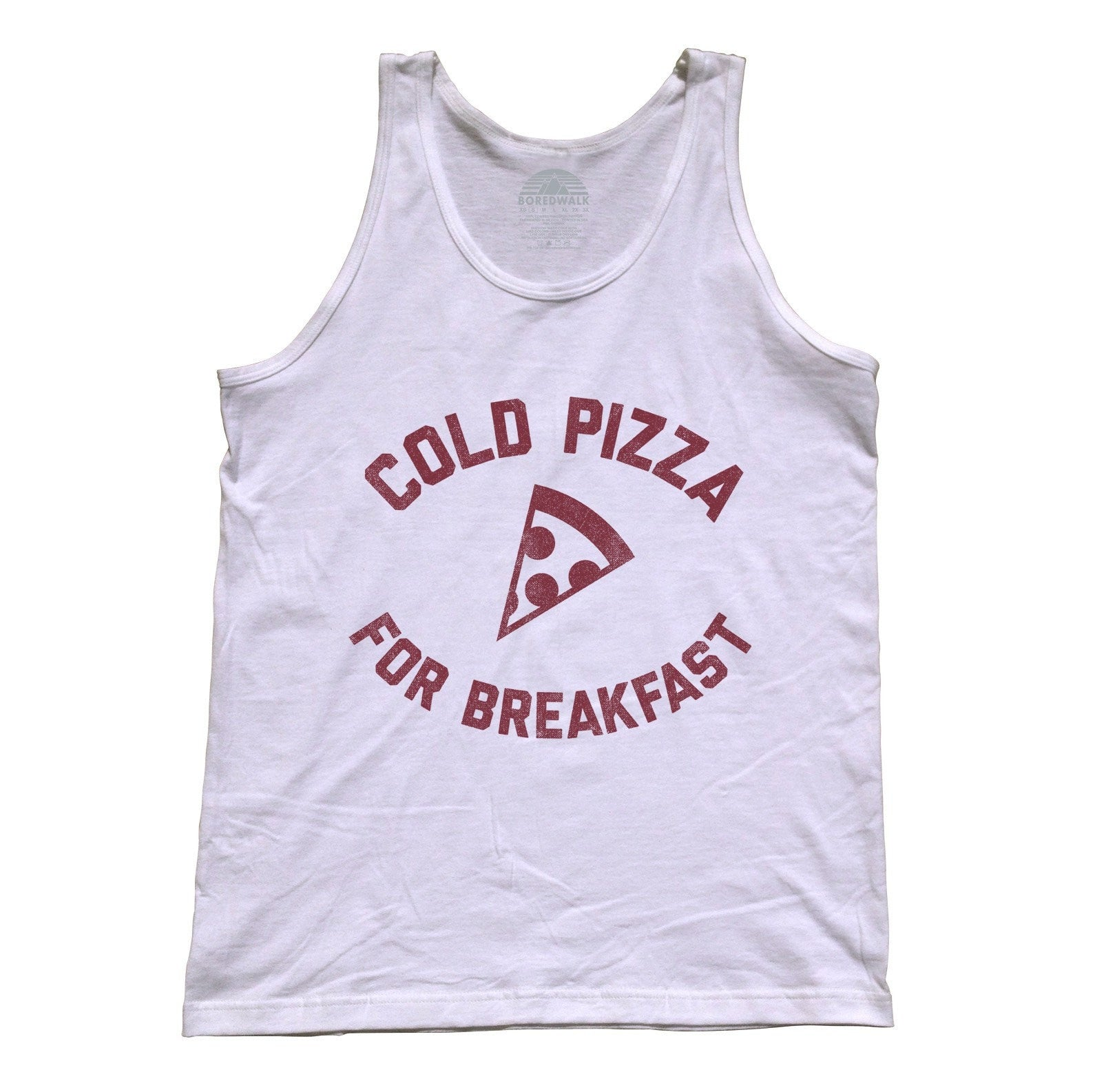 Unisex Cold Pizza For Breakfast Tank Top Funny Hipster Foodie