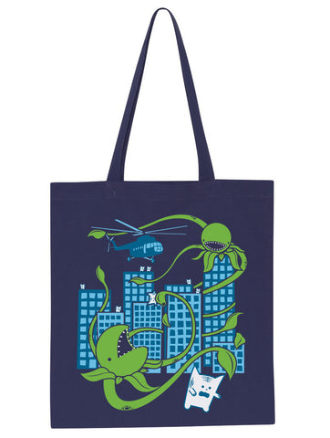 Killer Plants From Outer Space Tote Bag - By Ex-Boyfriend