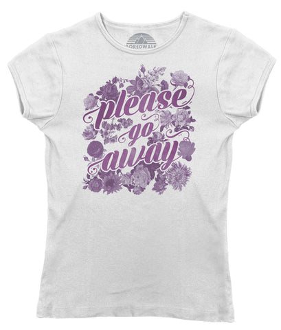 Women's Please Go Away T-Shirt - Juniors Fit - Introvert Shirt
