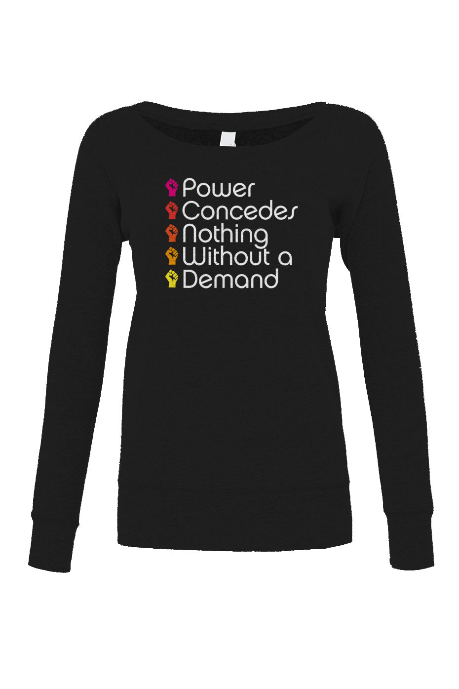 Women's Power Concedes Nothing Without a Demand Scoop Neck Fleece