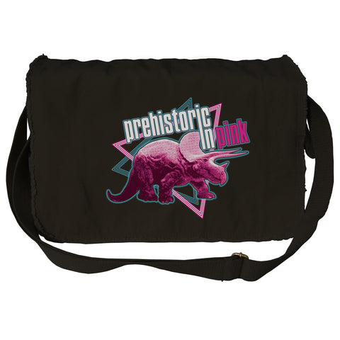 Prehistoric in Pink Triceratops Messenger Bag