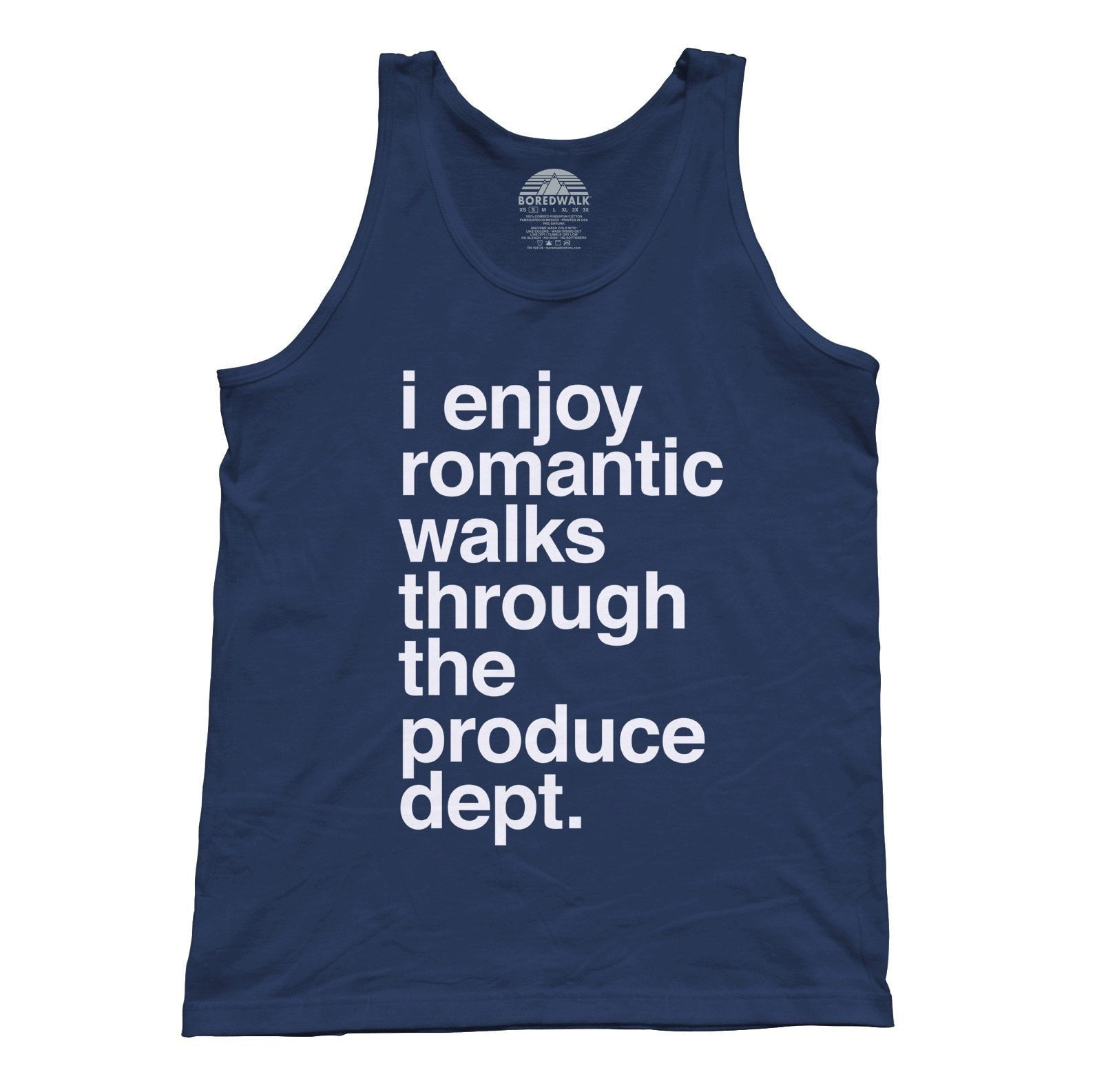 Unisex I Enjoy Romantic Walks Through the Produce Department Tank Top - Foodie Vegan Vegetarian
