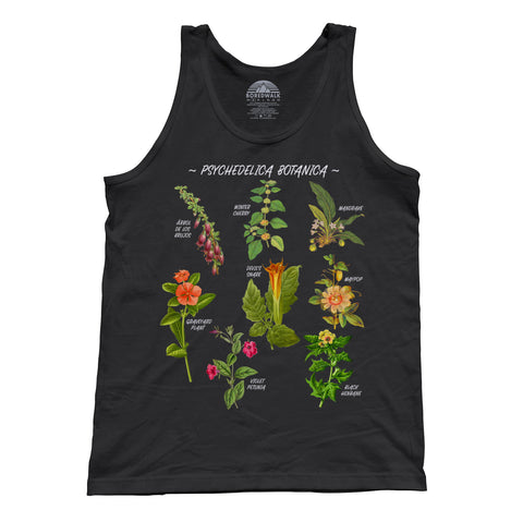 Unisex Psychedelica Botanica Tank Top
